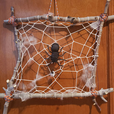 paracord spider web
