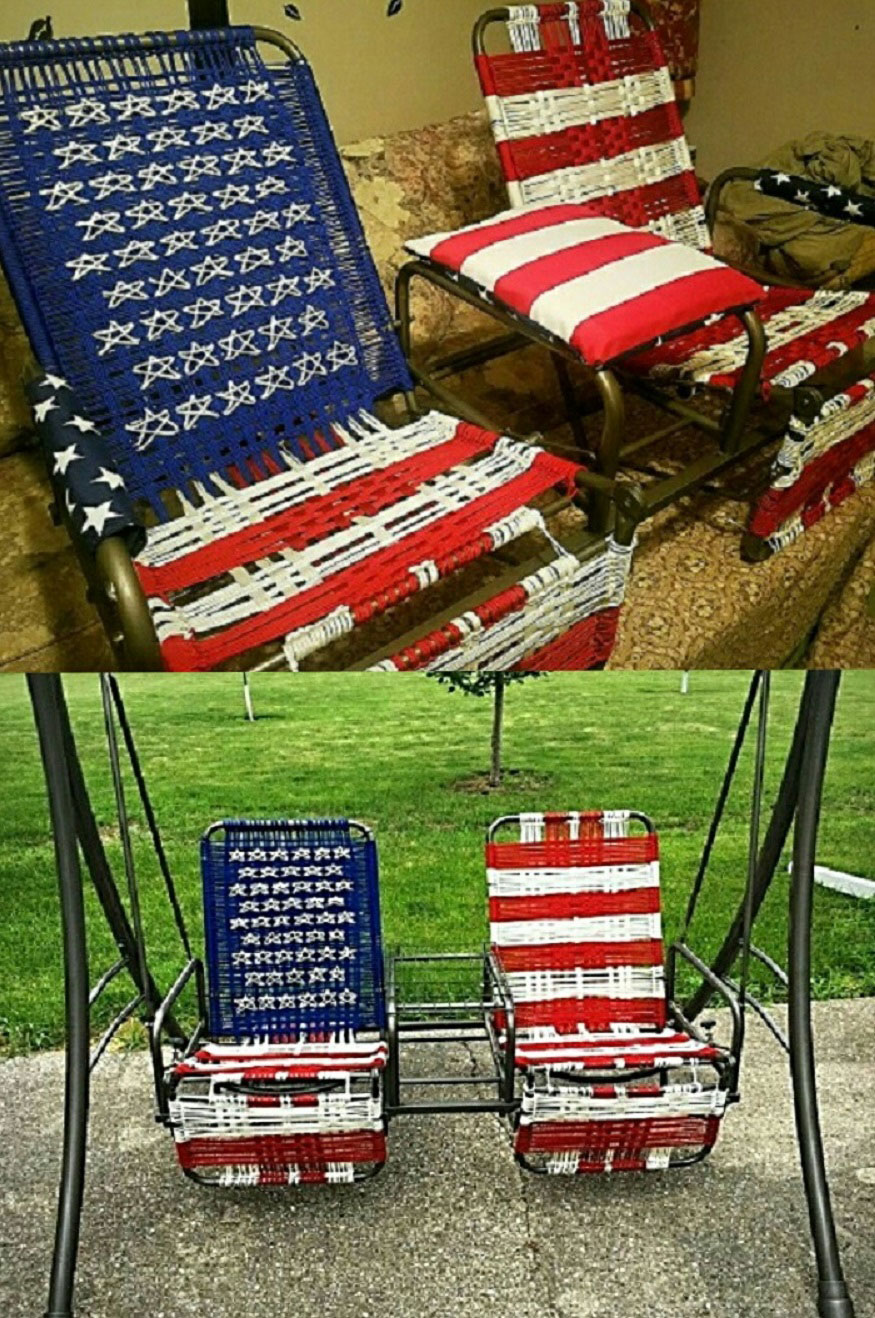 paracord American flag glider